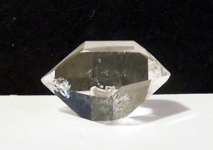 Inclusions prove natural authentic Herkimer Diamond