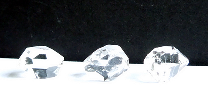 All Herkimer Diamonds are clear.