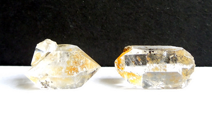 Herkimer Diamonds with iron oxide