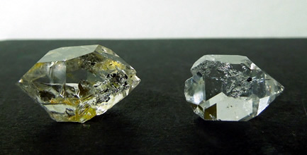 All but double terminated quartz crystals.