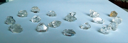 Wholesale lot of Herkimer Diamond Crystals for sale.