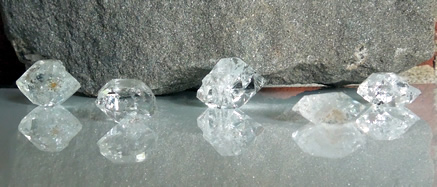 five herkimer diamonds