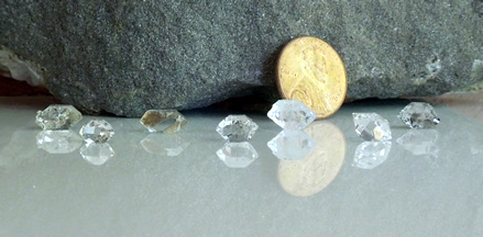 Group of small Herkimer Diamonds
