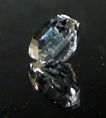 Herkimer cut into an asscher gemstone.