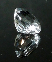 A 1.81 ct. asscher cut Herkimer quartz crystal.
