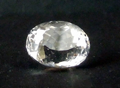 Front view of cut crystal.