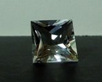 Images of a faceted Herkimer crystals, princess cut.