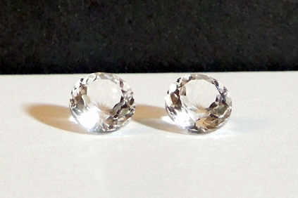 Set of round cut Herkimer Diamonds