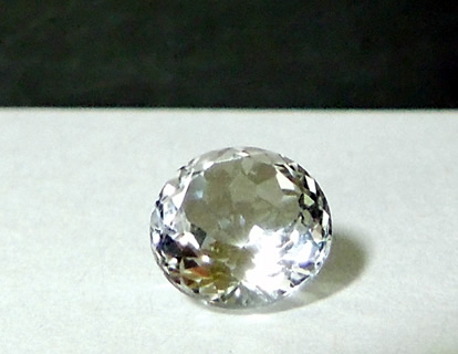 Front view, cut Herkimer Diamond