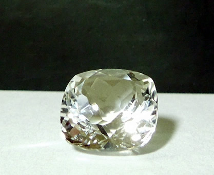 Front view of square cut diamond.