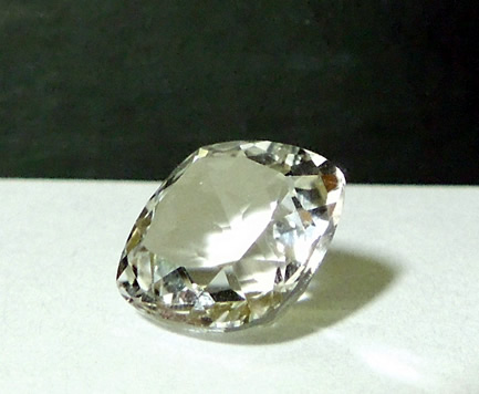 Beautiful clear 11 mm crystal gemstone.
