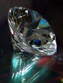 Faceted oval Herkimer crystal.