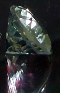 Side view of Herkimer, shows facets.