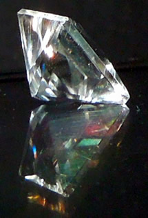 Sparkly image of princess cut diamond.