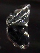 Oval cut Herkimer gemstone.