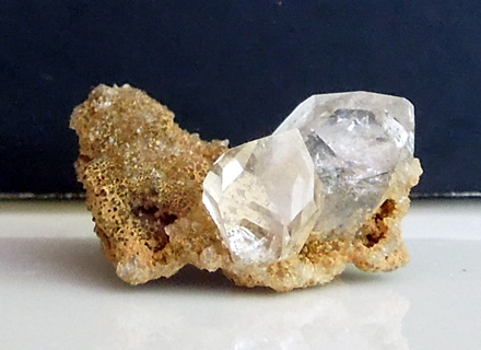 Quartz points on druzy crystals.