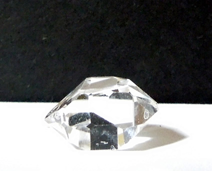 Water clear raw quartz crystal.