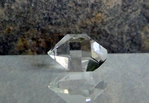 Natural Herkimer Diamond with window facet.