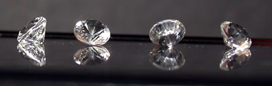 Herkimer Diamond accent gemstones