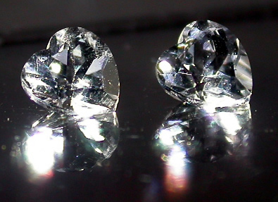 Heart Cut Herkimer Diamonds.