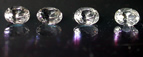 Oval cut Herkimer Diamonds