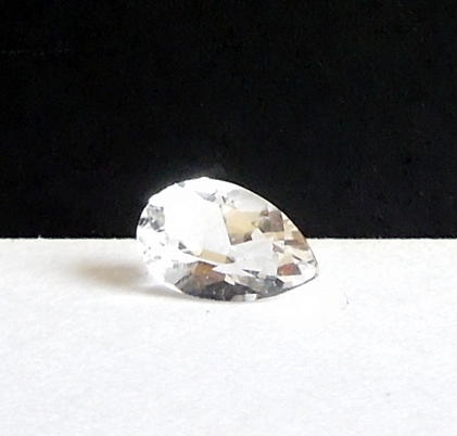 Beautiful faceted Herkimer quartz.