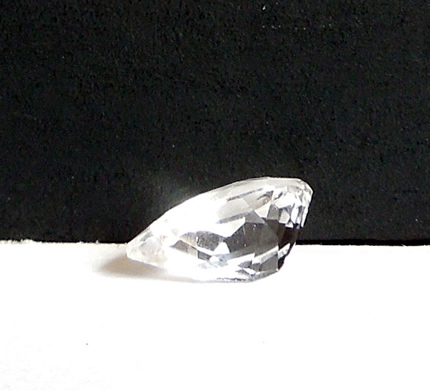 Back view of faceted herkimer diamond