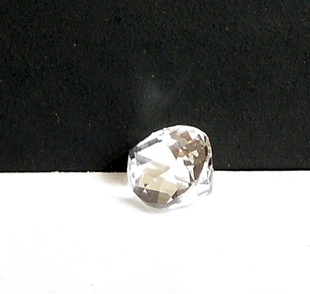 Side view of pear, tear drop, or penduloque cut herkimer diamond