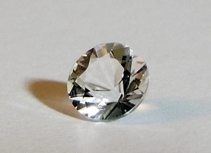 Brilliant round cut Herkimer Diamond