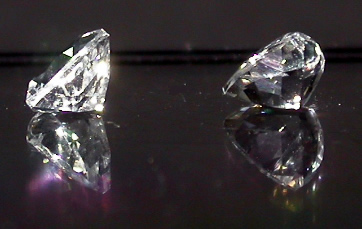 Matching set of trillion cut Herkimer Diamonds.