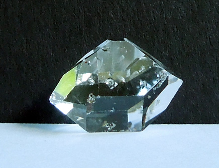 Double terminated quartz crystal.