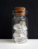 Herkimer Quartz Crystals in a Glass Vial