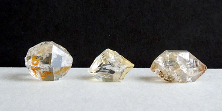 Herkimer Diamond golden healer crystals.